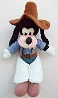 Genuine Original Disney Mickey Mouse's COWBOY SHERIFF Large GOOFY Soft PlushToy