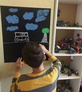 2 QC Quick Contact Blackboard Peel Stick Self Adhesive Chalkboard Covering Art✔