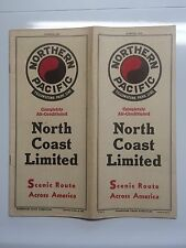 1940 Northern Pacific Railway Time Table Travel Brochure North Coast Limited