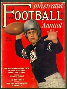 Illustrated Football Annual 1942 VG Jumbo/Planet Comics & Detective Pulp Ads