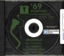 PONTIAC 1969 Bonneville, Catalina, GTO, Tempest, Fire Bird Shop & Body Manual CD