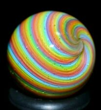 """HOT HOUSE GLASS MARBLE/.675""""-PASTEL RAINBOW DICHROIC # 105-YELLOW,PINK,LIME,TANG"""