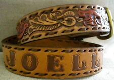 Nocona Western Tooled Leather Belt Personalized JOELLEN 28 Cowgirl EXCELLENT