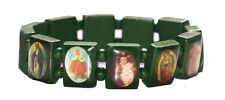 Unique - green religious figures square/one size fits all hand bracelet(ZX240)