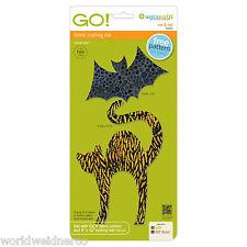 AccuQuilt GO! & Baby Fabric Cutter Cutting Die Cat & Bat 55365 Quilting Applique
