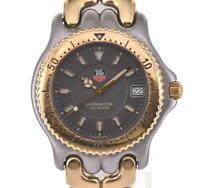 TAG HEUER S/el WG1120-K0 GP/SS Date gray Dial Quartz Men's Watch P#100043