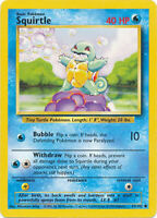 Squirtle Common Pokemon Card Base Set Unlimited English 63/102
