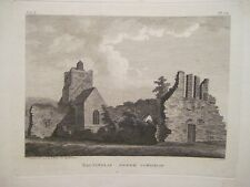 Antique Irish Print BALTINGLASS ABBEY Wicklow Ireland 1793 M Hooper J Newton