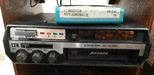 Solarvox 8 Track Tape Am Fm Car Radio Vintage Model CSR-244 Rare!
