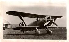 WWII German Luftwaffe Henschel Hs-123 Dive Bomber Attack Bi-Plane Airplane Photo