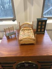 Miniature Dollhouse Wooden Bedroom Furniture