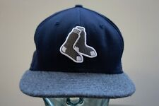 Boston Red Sox New Era 59 Fifty Baseball Hat Fitted Size 7 Silver Socks Logo