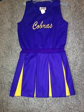 Size 14 Purple & Gold Cobras Cheerleader Jumper Dress Up Uniform Costume NWT !