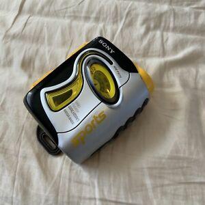 Sony Sports Walkman Cassette Player AM FM Radio Mega Bass WM-FS111 - Tested