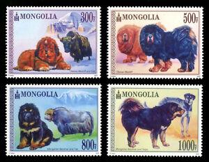 Mongolia 2015 Dog And Yak Stamps