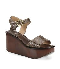 Michael Kors Collection Snake Print Wedge Sandals Size 8.5