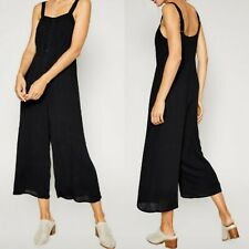 Sadie and Sage NWT M Bellflower Black Sleeveless Button Cropped Jumpsuit $119