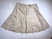 NWT Old Navy Womens Size 12 Skirt Tan w/ Gold Thread A Line Cotton Low waist