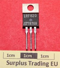 St IRF820 N-Channel MOSFET 2.5A 500V 80W TO-220