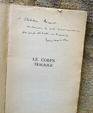 Le Corps Tragique poems by Jules Supervielle SIGNED Softcover -Good Condition