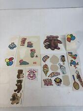 Vintage 1980s Sticker Lot Of 23 80s Kids Stickers