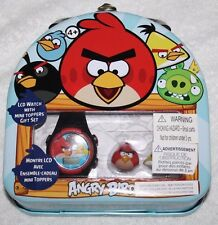 Angry Birds LCD Watch with Mini Toppers in a Collectors Tin Brand New