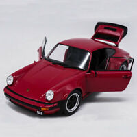 1/24 Scale Porsche 911 Turbo 3.0 1974 Model Car Diecast Red Display Collection