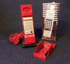 Vintage Push Button Telephone Telefon (Rot, Red)