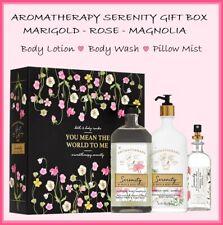 Bath & Body Works - Serenity MARIGOLD ROSE MAGNOLIA 3 Pc Gift Box SET New In Box
