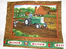 TRACTOR Fabric Cotton Craft Quilting Panel  DOG - OLIVER Tractors - BOYS