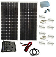200W 2x 100W 12V Solar Panel kit 20A dual Controller battery charger motorhome