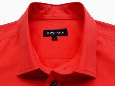 DUCHAMP Mens Vintage Classic Short Sleeve Bright Red Shirt - Size L