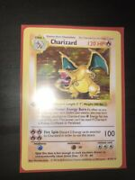 Charizard Pokemon Card Decal Sticker Shadowless 4/102 1st Edition