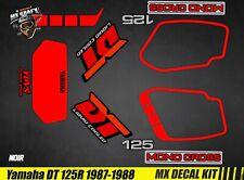 Kit Déco Moto pour / Mx Decal Kit for Yamaha DT 125 R - 1987 / 1988