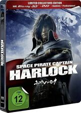 SPACE PIRATE CAPTAIN HARLOCK (Blu-ray 3D + DVD) Steelbook NEU+OVP
