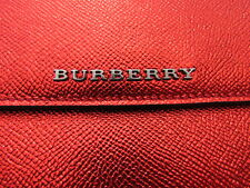 NEW BURBERRY ipad cover Metallic leather Beckett cadmium red tablet clutch $495