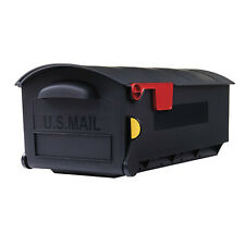 Gibraltar Mailboxes Patriot Large Rust-Proof Plastic Post Mount Mailbox, Black