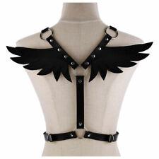 Angel Wings Shoulder Belt Body Chain Pu Leather Punk Waist Belt 7 Colors Harness