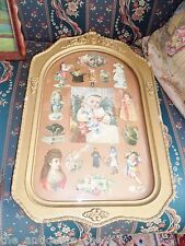 Curved Glass collection of framed Victorian trading cards, beautiful frame[ed]