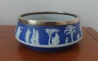 Wedgwood Jasper Ware Salad Bowl c. 1900 - Arts & Crafts Era Influence