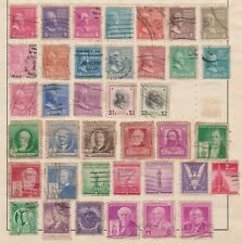 (U53-19) 1930-40s USA mix of 62stamps values to $2 (S)