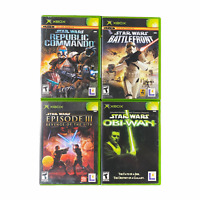 Xbox Lot Star Wars Revenge of the Sith Battlefront Knights of the Old Republic