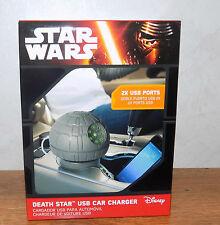 Star Wars Death Star USB Car Charger Disney - 2x USB ports - BRAND NEW