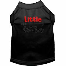 Little Brother Screen Print Dog Shirt Black