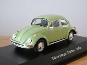 ALTAYA IXO VW VOLKSWAGEN BEETLE (KAFER) 1972 GREEN CAR MODEL NA03 1:43