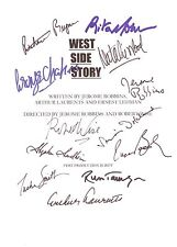 West Side Story Signed Movie Script X12 Rita Moreno Natalie Wood Wise reprint