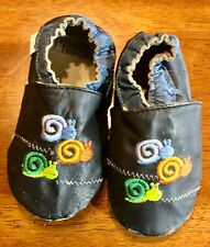 Tutu and Lulu Leather Soft Sole Baby Shoes 18-24 Months Snails         JR1702