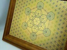 Metatrons CUBO in fiore della vita-geometria sacra in metallo Wall Art * ESCLUSIVO