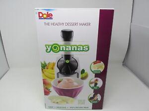 NEW Yonanas Classic Healthy Dessert Fruit Soft Serve Maker 200-Watt Silver