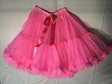 KAIYA EVE Hot Pink, Fuchsia  Tulle , Petticoat, Ruffle Skirt, womans 8,